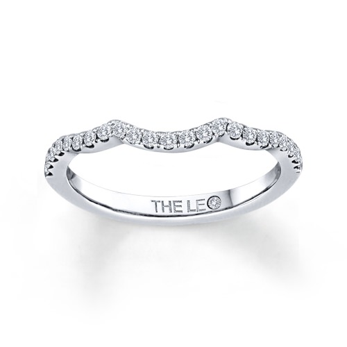 Leo Diamond Ring 1/4 ct tw Round-cut 14K White Gold