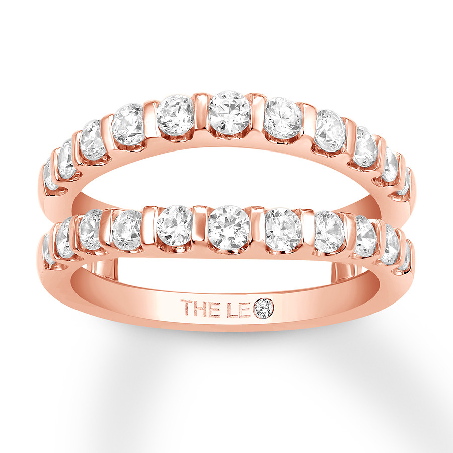 Leo Diamond Enhancer Ring 1 ct tw Round-cut 14K Rose Gold