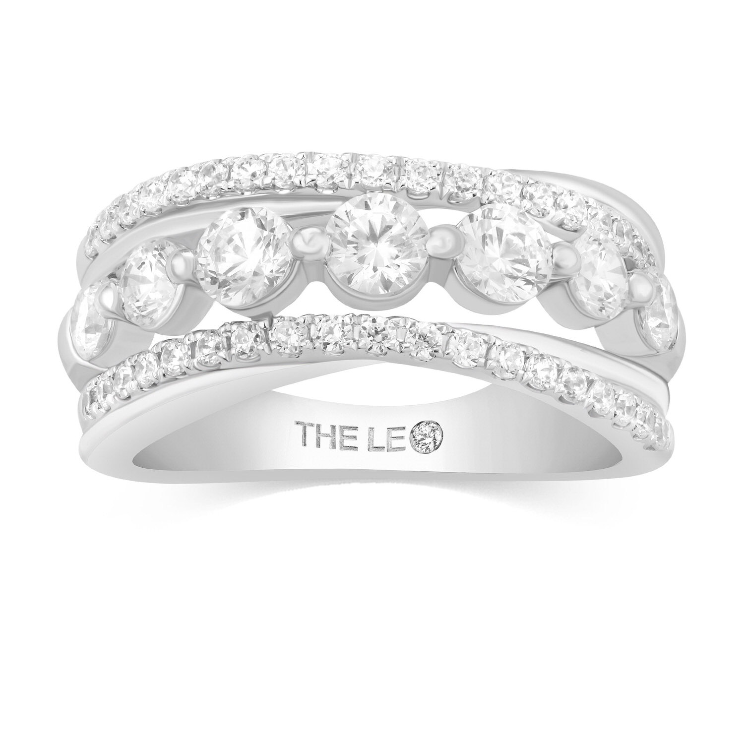 Leo Diamond Ring 1-1/2 ct tw 14K White Gold