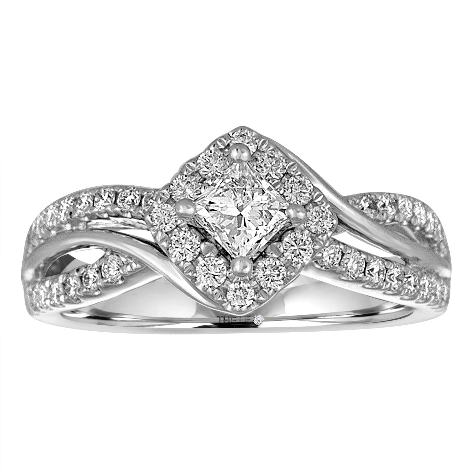 Leo Diamond Engagement Ring 3/4 ct tw Diamonds 14K White Gold