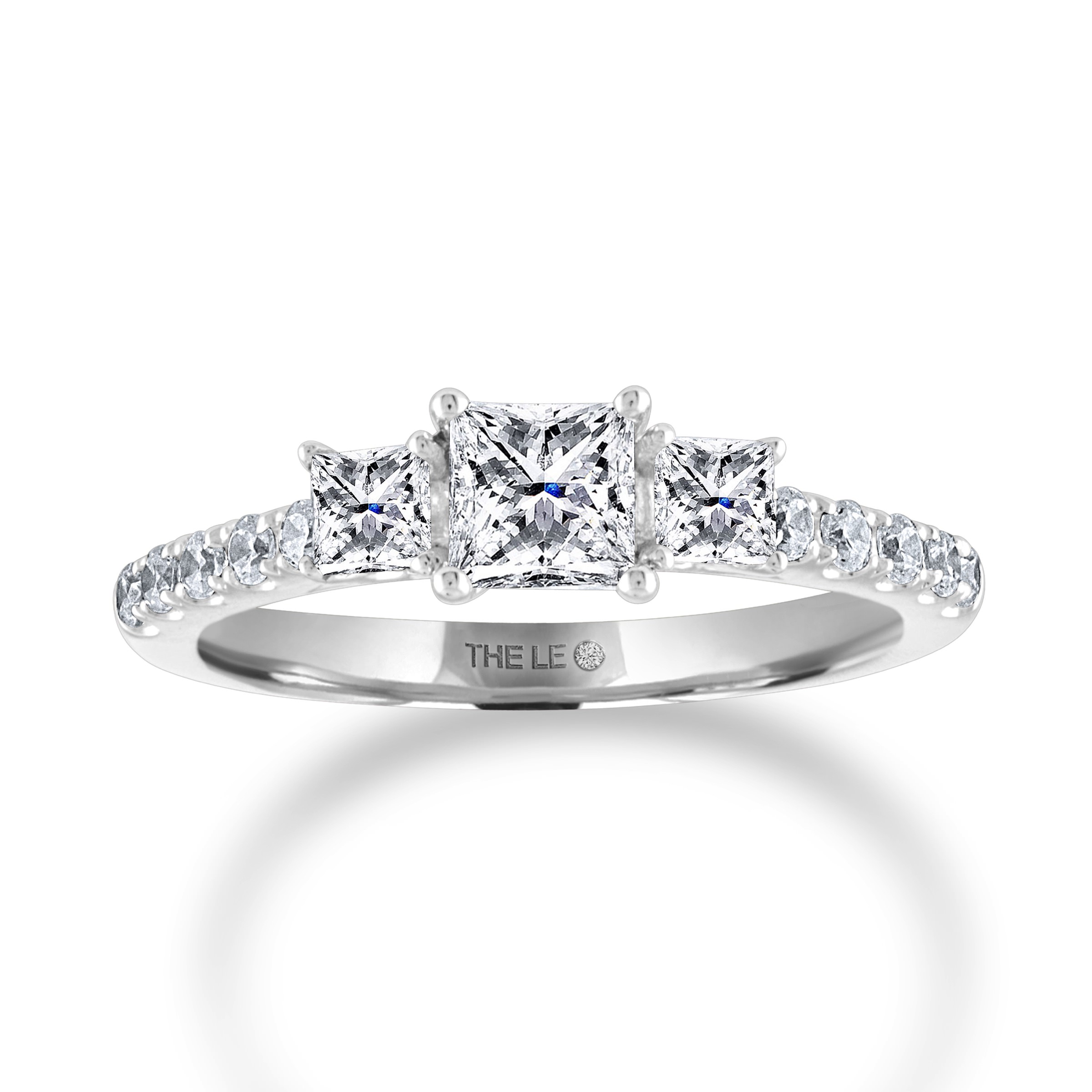 Leo Diamond Engagement Ring 7/8 ct tw 14K White Gold